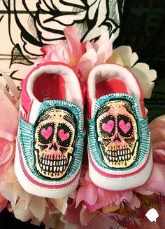 Little girl skull vans♥