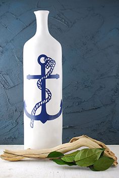 Haines Nautical Anchor Vase 18.5in