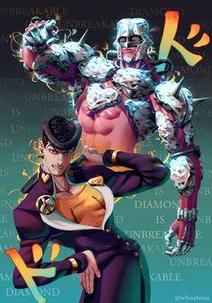 Diamond is unbreakable by whoareuu on DeviantArt Jojo's Bizarre Adventure, Dragon Rey, Jojo Stands, Jojo Anime, Jojo Parts, Cute Art Styles, Jojo Memes, Anime Shows, Jojo Bizarre