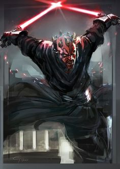 """Earth Maul was pretty bad ass I always had more of am infinity with the """"baddies"""" in movies and with lords were the baddest of the bad"""
