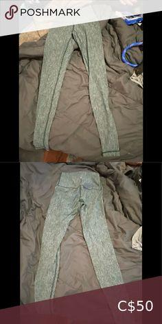 Lululemon green herringbone leggings Basically brand new green herringbone leggings. High waisted! Fit like a 4/6 lululemon athletica Pants & Jumpsuits Leggings Lululemon Leggings Mesh, Mesh Leggings, Black Leggings, White C, Under Pants, New Green, Tiffany Blue, Herringbone, Colorful Leggings