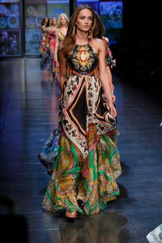 Gorgeous Bohemian ~ maxi dress gypsy style D Summer 2012