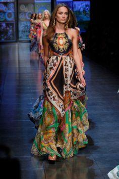 Gorgeous Bohemian ~ maxi dress gypsy style D Summer 2012