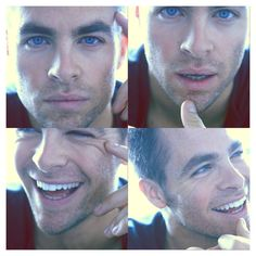 His eyes!!! Chris Pine