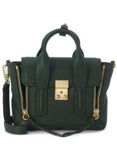 3.1 PHILLIP LIM Borsa A Mano 3.1 Phillip Lim Pashli Mini Satchel In Pelle Color Verde Giada. #3.1philliplim #bags #hand bags #satchel #