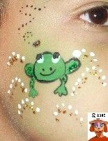 frog face paint