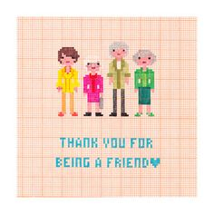 Thank You For Being A Friend Golden Girls by OwlandBrew on Etsy