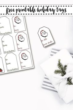 Download these adorable farm house style printable holiday tags for free on Everyday Party Magazine #Farmhouse #Christmas #freeprintable