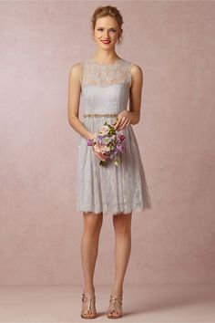 Celia Dress from BHLDN | gray grey bridesmaid dress | $220 | BHLDN | wedding ceremony reception bridesmaids maid of honor silver charcoal slate oyster moh