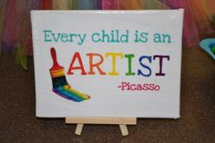 "Photo 4 of 57: Rainbow Art Party / Birthday ""Rainbow Art Party"" | Catch My Party"