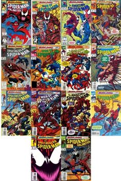 Maximum Carnage Complete Collection 1993 - Got em ALL! Comic Book Covers, Comic Books Art, Spiderman Maximum Carnage, Marvel Animation, Read Comics, Amazing Spider, Comic Character, So Little Time, Marvel Universe