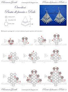 Ricamar Gioielli: Tutorial Orecchini Punta di freccia e Perle