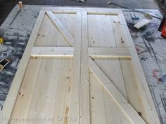 """DIY: Build your own sliding barn doors - this is an awesome tutorial! Morgan wants to having sliding barn doors on the outside of our walk-out basement sliding glass door as a way to """"batten down the hatches"""" during our great Midwestern thunderstorms and tornadoes."""