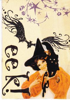 vintage witch print