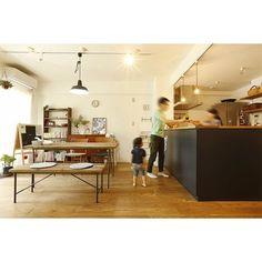 リビング・ダイニング Kitchen Dining, Dining Room, Home Kitchens, Corner Desk, Home And Family, New Homes, Interior Design, Modern, House