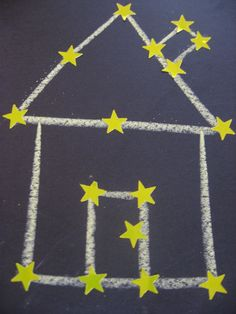 Constellation project - saw a great example of this in our preschool today with animals!