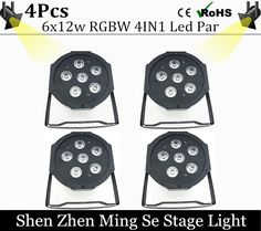 114.00$  Buy here - http://ali0l5.shopchina.info/go.php?t=32763164495 - 4units 6x12w led Par lights RGBw 4in1 led flat par dmx512 controller  disco lights professional stage dj equipment 114.00$ #buyonline