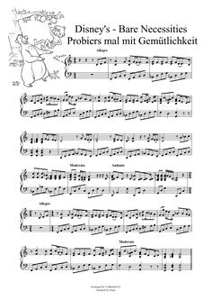 Disney's - Bare Necessities Free Piano Music