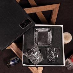Swanky Gift Set Diamond Cut Whisky Glasses Ashtray Set   Diamond Design, Whisky, Diamond Cuts, Glasses, Birthday, Gifts, Eyewear, Eyeglasses, Birthdays