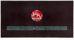 Osmo Rauhala: Tuonelan joki VI, 1993, etsaus, 30x57,5 cm - Bukowskis Modern & Contemporary F160