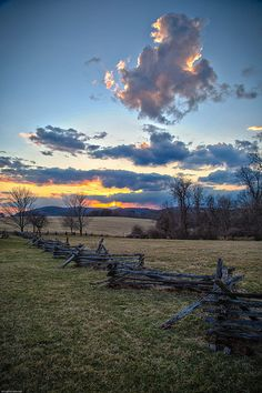 Sunset, Valley Forge National Historical Park, Pennsylvania