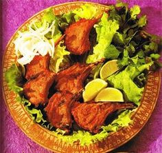 Very tasty to eat and very easy to make Tandoori Roti, Tandoori Chicken, Clay Oven, Indian Food Recipes, Ethnic Recipes, Chops Recipe, Lamb Chops, Naan, Kitchens