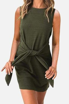 Women's Fashion Dresses, Casual Dresses, Short Sleeve Dresses, Summer Dresses, Fall Dresses, Green Outfits For Women, Casual Tie, Vestido Casual, Spring Outfits