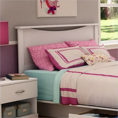 South Shore Maddox Panel Headboard in Pure White Finish - transitional - headboards - cymax