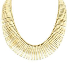 """Love this! Found it on FabnChic Boutique. You'll be dangerously outstanding in the Bristol Necklace. It's a bold, untamed piece that will transform even the simplest of necklines into an exotic affair.  - Brass metal - 18"""" long - Lobster clasp closure"""