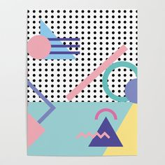 Memphis Pattern 5 - - - Retro Duvet Cover by GraphicWaveDesign - Queen: x Memphis Art, Memphis Design, Retro Kunst, Retro Art, Geometric Shapes Drawing, Nostalgia Art, Spider Art, Memphis Pattern, Mid Century Art
