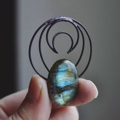 Copper wrapped labradorite necklace :) Many colours inside make the gem look like a magic piece!  ___  Rope or chain included (black). Choose the