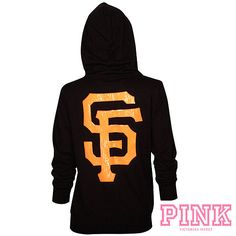 90178d8f5 San Francisco Giants Victoria s Secret PINK® Bling Wide Neck Perfect Full  Zip Hood - MLB