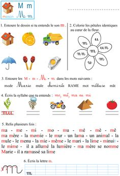 Le son m Teaching Cursive Writing, French Education, Kids Education, French Course, English Phonics, French Language Lessons, French Classroom, French Resources, Morelia