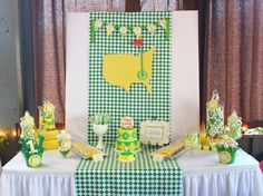 show off all the good golf party goodies with a golf-themed sweets table