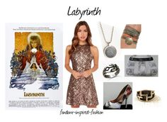 """Labyrinth Inspired Outfit"" by fandom-inspired-fashion ❤ liked on Polyvore featuring Dress the Population"