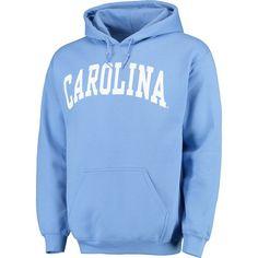 1a824dafe Men s Light Blue North Carolina Tar Heels Basic Arch Pullover Hoodie