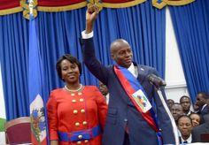 Le couple présidentiel d'Haiti: Martine et Jovenel Moise, 7 févrie 2017