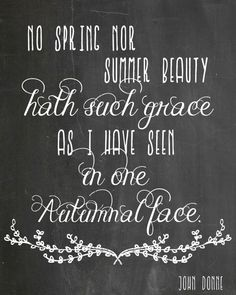 Autumnal Face Quote Free printable available in 5 fall colors, chalkboard, and watercolor! Perfect for decorating your Thanksgiving table or buffet! Get it at The Domestic Heart