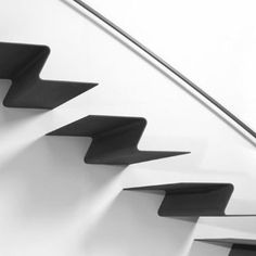 Folded Plate Architecture Folded plate staircase architectural stairs, stairs in steel . Stair Handrail, Staircase Railings, Stairways, Staircase Ideas, Iron Staircase, Curved Staircase, Spiral Staircases, Escalier Design, Beautiful Stairs