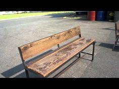 http://www.wood-iron-furniture.com/ TEL0867-24-1221 アイアン家具をお探しなら、612factoryに、ご相談下さい。3人が、座れるベンチです。