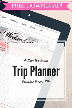free 4 day weekend trip planner