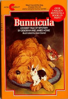 Bunnicula: A Rabbit-Tale of Mystery is a fiction book by Deborah and James Howe, and illustrated by Alan Daniel. Howe introduces the book as actually having been written by one of the main characters who. Rabbit Tale, Bunny Rabbit, Books To Read, My Books, Library Books, Thing 1, 80s Kids, My Childhood Memories, 90s Childhood