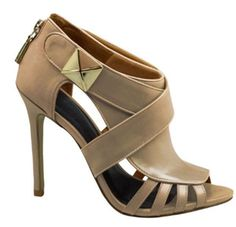 "High heel cut-out, covered heel, leather upper and insole, the perfect night out companion! Heel height 3.5"" Brazilian shoes, fashion, designer, winter, fall, comfortable, trendy"