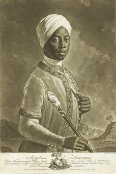 Angelo Soliman:  Originally from what is now Nigeria, Soliman, as a young child ended up in the home of aristocrats in 18th century Austria. In Vienna he rose to be the educator of a hereditary prince, a Freemason and a close friend of Wolfgang Mozart. After his death Soliman's body was stuffed like an animal and put on display. This location of this famous portrait of Soliman is identified as Vienna, Austria. Source: Black Star: The African Presence in Early Europe, by Runoko Rashidi