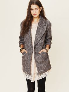 { Koch Golden Sun Tweed Coat at Free People Clothing Boutique [$698] }