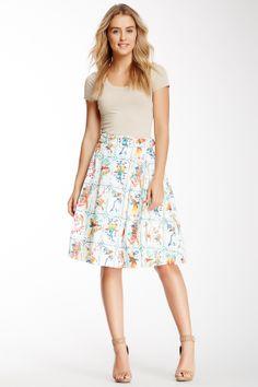 Uttam Boutique Pleated Full Printed Skirt on HauteLook