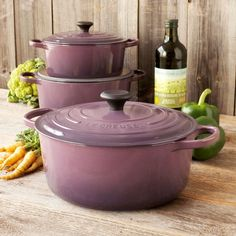 Le Creuset Cassis Round French Ovens    Oh gosh, one day!