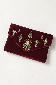 Jeweled Velvet Clutch #anthropologie