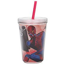 Zak 8-Piece 13 OZ Double-Wall Tumbler Cup with Straw - The Amazing Spider-Man~~ 5.99 stocking filler.