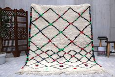 Moroccan 4x7 Berber Azilal 5x6 Authentic Tribal Rug Exhibited & Published Kilim Teppich Tapis , Boucherouite Rug